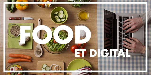 Infographie Food et Digital